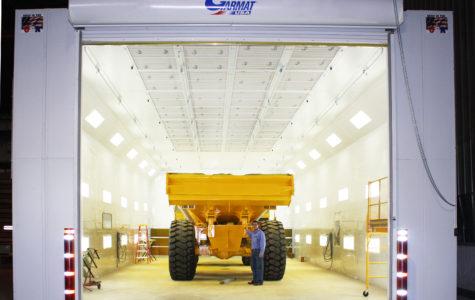 Garmat USA Spray Station With Yellow Truck Inside