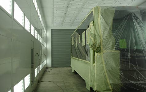 RV in Spray Booth