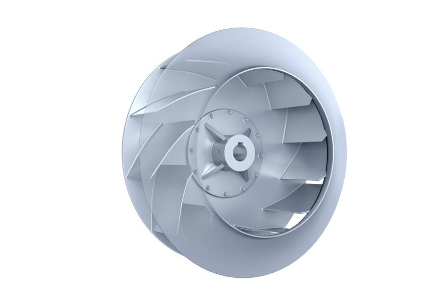reverse inclined fans